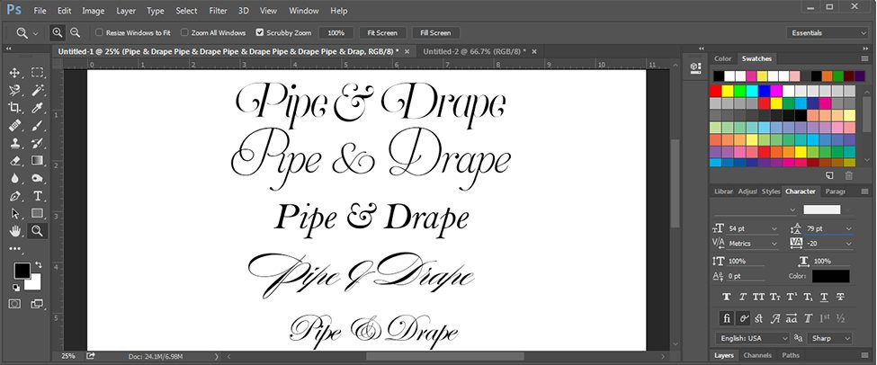 Selecting a Typeface